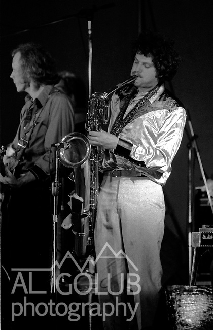 Commander Cody &amp; his Lost Planet Airmen, Modesto,Ca, March 8th, 1974 At The California Ballroom Rockn' Chair Productions.<br /> Photo by Al Golub/Golub Photography