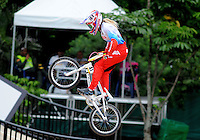 MEDELLIN- COLOMBIA -29-05-2016: Natalia Suvorova (RUS) durante su participación en la categoría elite mujeres en el marco del Campeonato Mundial de BMX 2016 que se realiza entre el 25 y el 29 de mayo de 2016 en la ciudad de Medellín. / Natalia Suvorova (RUS) during her performance in the women elite's categories as part of the 2016 BMX World Championships to be held between 25 and 29 May 2016 in the city of Medellin. Photo: VizzorImage / Cristian Alvarez / CONT