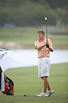 HOWEY IN THE HILLS, FL - MAY 19: Josh Gibson of Hope College hits an approach shot on the 18th hole during a playoff at the Division III Men's Golf Championship held at the Mission Inn Resort and Club on May 19, 2017 in Howey In The Hills, Florida. (Photo by Cy Cyr/NCAA Photos via Getty Images)