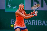 Paris, France, 28 May, 2018, Tennis, French Open, Roland Garros, Kristina Mladenovic (FRA)<br /> Photo: Henk Koster/tennisimages.com