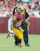 Washington Redskins wide receiver Jamison Crowder (80) runs with the ball in the second quarter against the Miami Dolphins at FedEx Field in Landover, Maryland on September 13, 2015.<br /> Credit: Ron Sachs / CNP