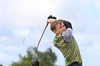 Darragh Behan (Naas) on the 14th tee during the Final round in the Connacht U16 Boys Open 2018 at the Gort Golf Club, Gort, Galway, Ireland on Wednesday 8th August 2018.<br />