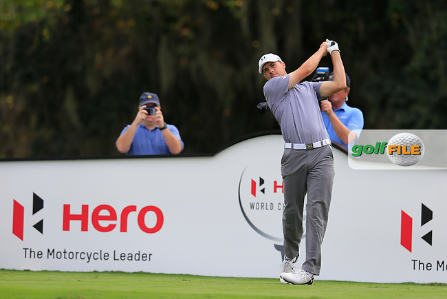 Jordan Spieth (USA) during round 4 of the Hero World Challenge, Isleworth Golf &amp; Country Club, Windermere, Orlando Florida, USA. 07/12/2014<br /> Picture Fran Caffrey, www.golffile.ie