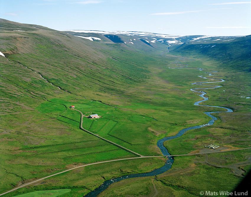 Hallsstaðir séð til norðausturs, Dalabyggð áður Fellsstrandarhreppur / Hallsstadir viewing northeast, Dalabyggd former Fellsstrandarhreppur