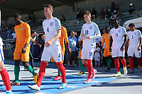 Josh Tymon of Hull City and England walks out onto the pitch prior to kick-off during England Under-18 vs Ivory Coast Under-20, Toulon Tournament Final Football at Stade de Lattre-de-Tassigny on 10th June 2017