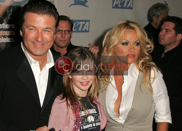 Alec Baldwin with his daughter Ireland Eliesse and Pamela Anderson<br />at PETA's 25th Anniversary Gala and Humanitarian Awards Show. Paramount Pictures, Hollywood, CA. 09-10-05<br />Dave Edwards/DailyCeleb.Com 818-249-4998