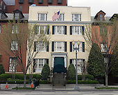 Blair House, the official state guest house of the President of the United States, on Pennsylvania Avenue in Washington, D.C. on Friday, March 30, 2012.  Its official address is 1651-1653 Pennsylvania Avenue, N.W.  It is located across the street from the Eisenhower Executive Office Building..Credit: Ron Sachs / CNP