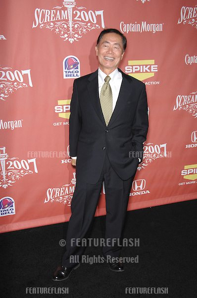 "George Takei at Spike TV's ""Scream 2007"" Awards honoring the best in horror, sci-fi, fantasy & comic genres, at the Greak Theatre, Hollywood..October 20, 2007  Los Angeles, CA.Picture: Paul Smith / Featureflash"