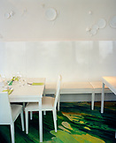 AUSTRIA, Vienna, Stadtpark, interior of restaurant Meirerei with tables and chairs