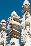 Detail of the carved marble on the roof of the Duomo (Cathedral) in Milan, Italy.