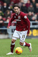 Ricky Holmes of Northampton Town during the Sky Bet League 2 match between Northampton Town and Morecambe at Sixfields Stadium, Northampton, England on 23 January 2016. Photo by David Horn / PRiME Media Images.