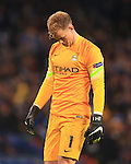 Joe Hart of Manchester City looks dejected - Manchester City vs. Bayern Munich - UEFA Champion's League - Etihad Stadium - Manchester - 25/11/2014 Pic Philip Oldham/Sportimage