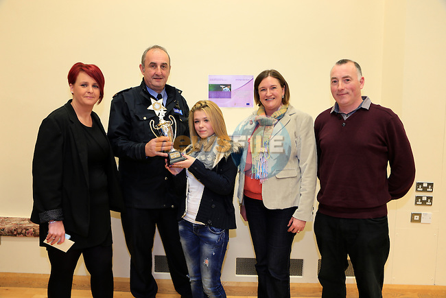 Denise Touhy, Inspector Brendan Campbell, Stacey Campbell Anita O'Shea and Noel Loughran JLO at the Boyne Garda Youth Project awards night<br /> Picture: Fran Caffrey www.newsfile.ie