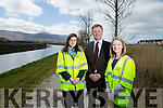 Rejuvenation of canal walkway first stage of €2.2m Tralee Active Travel Town initiative between Tralee and Blennerville is to get underway on Monday next, April 11. Pictured Niamh Fannon, Assistant Engineer, Tralee Deputy Mayor Cllr. Graham Spring  Anna Maria Costello, Assistant planner