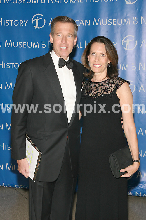 **ALL ROUND PICTURES FROM SOLARPIX.COM**.**SYNDICATION RIGHTS FOR UK, SPAIN, PORTUGAL, AUSTRALIA, S.AFRICA & DUBAI (U.A.E) ONLY**.The Museum Gala 2008 at The Museum of Natural History in Central Park West in New York City, New York in the USA. .This pic:Brian Williams and Jane Williams..JOB REF:7973-PHZ/Sylvain Gaboury   DATE:20-11-08 .**MUST CREDIT SOLARPIX.COM OR DOUBLE FEE WILL BE CHARGED* *UNDER NO CIRCUMSTANCES IS THIS IMAGE TO BE REPRODUCED FOR ANY ONLINE EDITION WITHOUT PRIOR PERMISSION*