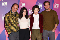 director, Luca Guadagnino, Esther, Garrel, Timothee Chalamet and Armie Hammer<br /> at the London Film Festival 2017 photocall for the film &quot;Call Me by Your Name&quot; at the Mayfair Hotel, London<br /> <br /> <br /> &copy;Ash Knotek  D3326  09/10/2017