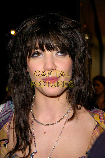 """DAISY LOWE.At the """"Giles Gold for New Look"""" Launch Party,.New Look, Oxford Street, London, England, .March 12th 2007..portrait headshot fringe.CAP/CAN.©Can Nguyen/Capital Pictures"""