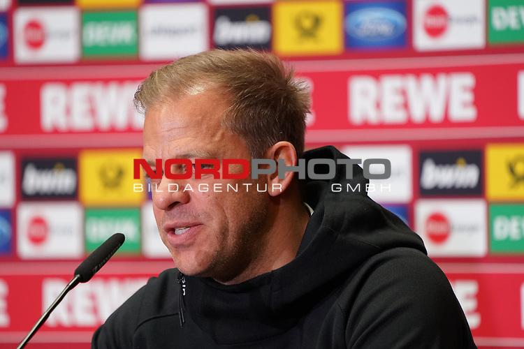 09.02.2019, RheinEnergieStadion, Koeln, GER, 2. FBL, 1.FC Koeln vs. FC St. Pauli,<br />  <br /> DFL regulations prohibit any use of photographs as image sequences and/or quasi-video<br /> <br /> im Bild / picture shows: <br /> Pressekonferenz (PK) nach dem Spiel,  Markus Anfang Trainer, Headcoach (1.FC Koeln),<br /> <br /> Foto © nordphoto / Meuter