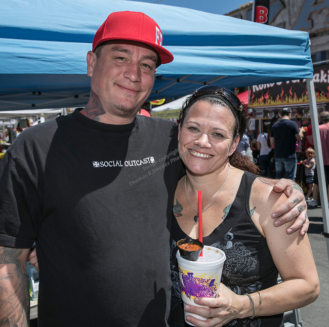 Charles and Christina at the 34th Annual Chili on the Comstock Cook Off in Virginia City on Sunday, May 21, 2017.