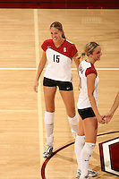 10 November 2005: Michelle Mellard during Stanford's 3-0 win over Arizona State at Maples Pavilion in Stanford, CA.