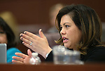 Nevada Assemblywoman Teresa Benitez Thompson, D-Reno, works in committee at the Legislative Building in Carson City, Nev., on Wednesday, April 15, 2015.<br /> Photo by Cathleen Allison