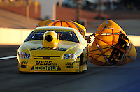 Nov. 2, 2008; Las Vegas, NV, USA: NHRA pro stock driver Jeg Coughlin Jr during the Las Vegas Nationals at The Strip in Las Vegas. Mandatory Credit: Mark J. Rebilas-