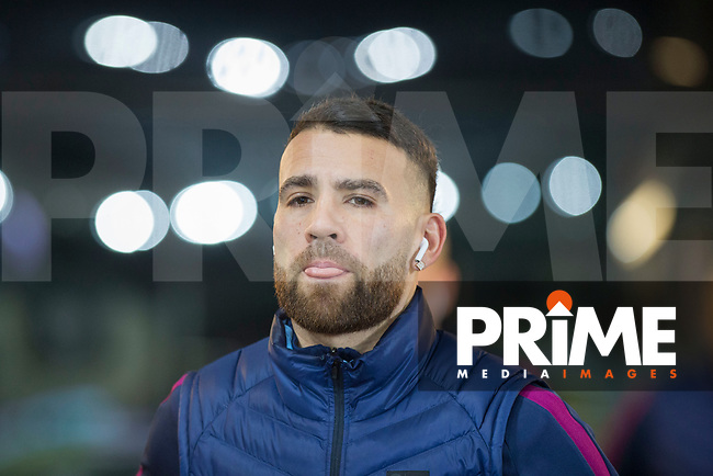 Nicolas Otamendi of Manchester City arrives for the EPL - Premier League match between Swansea City and Manchester City at the Liberty Stadium, Swansea, Wales on 13 December 2017. Photo by Mark  Hawkins / PRiME Media Images.
