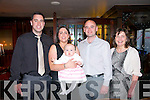 Baby Doireann Foley with her parents Aoife & Martin Foley, Liselton and godparents Daniel Kennelly & Caitherina Carey who was christened in St. John's Church, Ballybunion by Fr. Spring on Saturday last and afterwards at McMunn's Bar & Restaurant, Ballybunion.