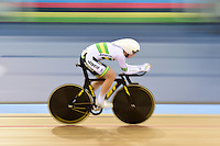 Pictures by SWpix.com - 02/03/2016 - Cycling - 2016 UCI Track Cycling World Championships, Day 1 - Lee Valley VeloPark, London, England - Woman's Individual Pursuit Final - WIASAK Rebecca - New World Champion