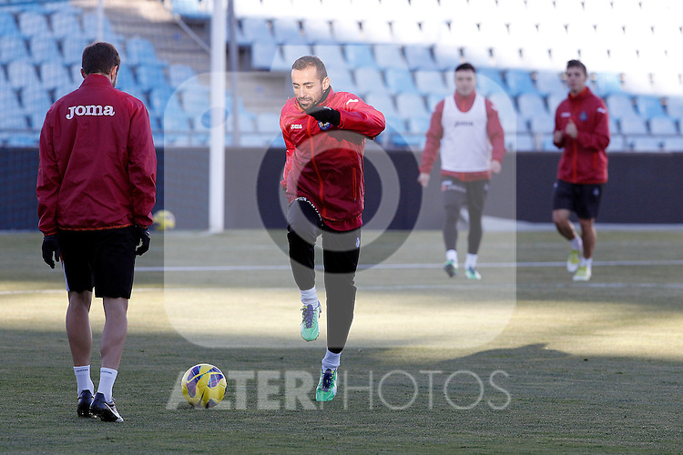 Getafe's Diego Castro during training session.December 05,2012.(ALTERPHOTOS/Acero)