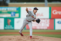 Johnson City Cardinals starting pitcher Jake Sommers (52) delivers a pitch to the plate against the Burlington Royals at Burlington Athletic Stadium on September 4, 2019 in Burlington, North Carolina. The Cardinals defeated the Royals 8-6 to win the 2019 Appalachian League Championship. (Brian Westerholt/Four Seam Images)