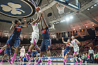Feb 9, 2014; Notre Dame forward Markisha Wright goes up for a shot against Syracuse. Photo by Barbara Johnston/University of Notre Dame