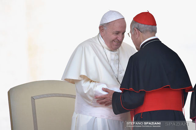 Cardinal Ricardo Blazquez Perez.Pope Francis during of a weekly general audience at St Peter's square in Vatican.June 6, 2018