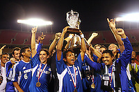 Kansas City Wizards celebrate their1-0 victory over Chicago to win the US Open Cup, at Arrowhead Stadium, in Kansas City, MO, Wednesday, Sept., 22, 2004.
