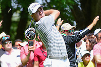 Justin Thomas (USA) watches his tee shot on 8 during round 4 of the World Golf Championships, Mexico, Club De Golf Chapultepec, Mexico City, Mexico. 3/5/2017.<br /> Picture: Golffile | Ken Murray<br /> <br /> <br /> All photo usage must carry mandatory copyright credit (&copy; Golffile | Ken Murray)