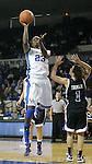 Junior forward Samarie Walker attacks the basket at the Women's Basketball game at Memorial Coliseum in Lexington, Ky., on Saturday, November. 17, 2012..