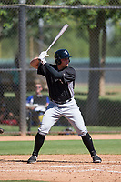 Corey Zangari (44) of the Chicago White Sox at bat during an Instructional League game against the Los Angeles Dodgers on September 30, 2017 at Camelback Ranch in Glendale, Arizona. (Zachary Lucy/Four Seam Images)
