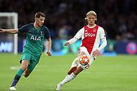 Kasper Dolberg of Ajax and Jan Vertonghen of Tottenham Hotspur during AFC Ajax vs Tottenham Hotspur, UEFA Champions League Football at the Johan Cruyff Arena on 8th May 2019