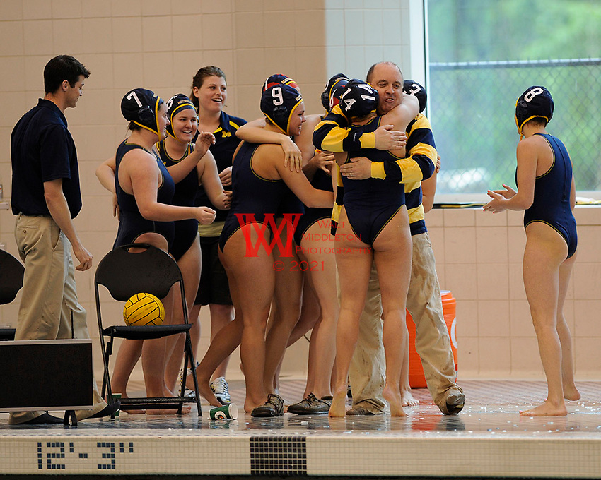 The University of Michigan Women Water Polo CWPA East Champions vs, Indian University in the final round of the CWPA East Championships being held at the University of Maryland, March 30th - April 2nd, 2010