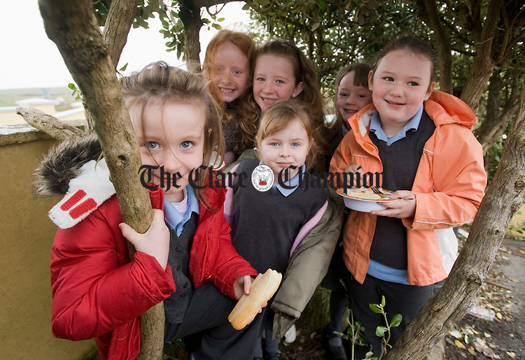 "Nora O Dwyer and friends in their ""den""  at Doolin NS. Photograph by John Kelly."
