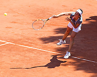 Francesca Schiavone practicing in advance of her women's final against Samantha Stosur..Tennis - French Open - Day 13 - Fri 04 Jun 2010 - Roland Garros - Paris - France..© FREY - AMN Images, 1st Floor, Barry House, 20-22 Worple Road, London. SW19 4DH - Tel: +44 (0) 208 947 0117 - contact@advantagemedianet.com - www.photoshelter.com/c/amnimages