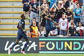 June 19th 2017, Kielce, Poland; UEFA European U-21 football championships, England versus Slovakia; Nathan Redmond (ENG) goal celebration  as he scores the winning goal in the 61st minute