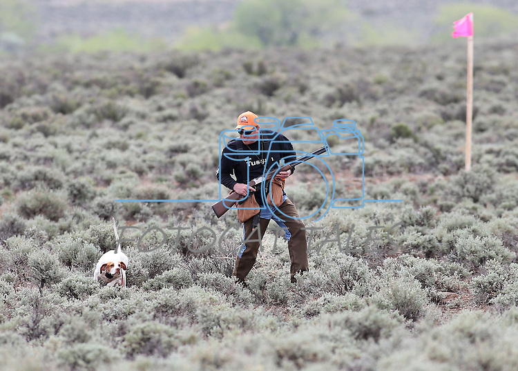 Competitor Paul Predere competes in the U.S. Bird Dogs Western State Nationals in Mound House, Nev., on Friday, April 24, 2015. <br /> Photo by Cathleen Allison