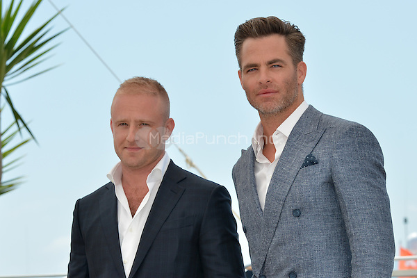 Ben Foster and Chris Pine at the Photocall 'Hell or high Water' - 69th Cannes Film Festival on May 16, 2016 in Cannes, France.<br /> CAP/LAF<br /> &copy;Lafitte/Capital Pictures /MediaPunch ***NORTH AND SOUTH AMERICA ONLY***