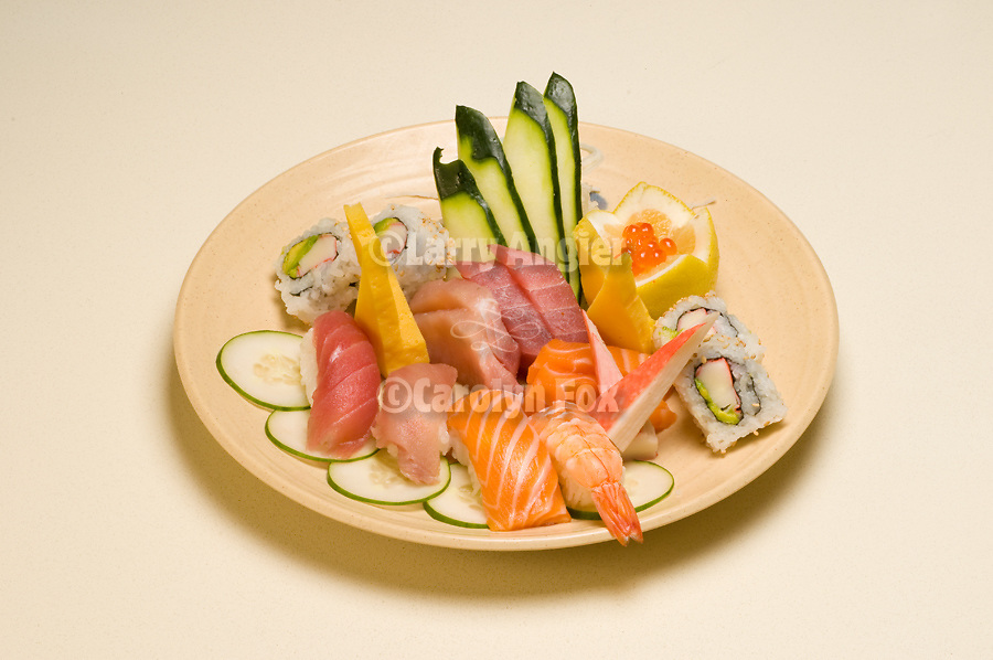 Oko Sushi plates for menus and display