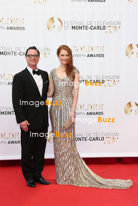 CPE/Joshua Malina and Darby Stanchfield attend the closing ceremony of the 53rd Monte Carlo TV Festival on June 13, 2013 in Monte-Carlo, Monaco.