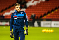 Queens Park Rangers goalkeeper Matt Ingram (13) during the Sky Bet Championship match between Sheff United and Queens Park Rangers at Bramall Lane, Sheffield, England on 20 February 2018. Photo by Stephen Buckley / PRiME Media Images.