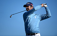 Jorge Campillo of Spain tees off during Round 1 of the 2015 Alfred Dunhill Links Championship at the Old Course, St Andrews, in Fife, Scotland on 1/10/15.<br /> Picture: Richard Martin-Roberts | Golffile