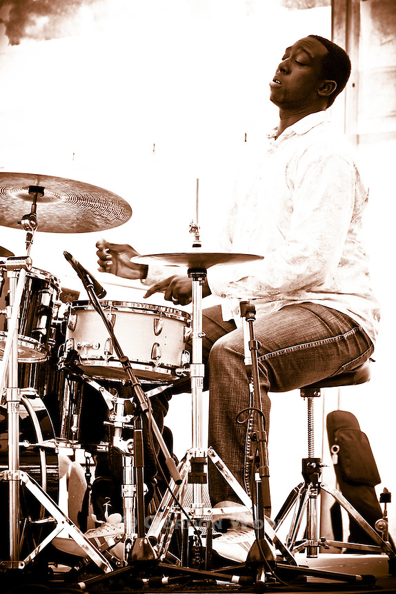 Drummer Larnell Lewis at Sunfest