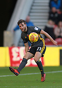 5th November 2017, Riverside Stadium, Middlesbrough, England; EFL Championship football, Middlesbrough versus Sunderland; Adam Matthews of Sunderland hits a pass forward in the second half of the 1-0 loss to Middlesbrough